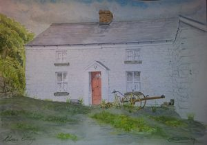 Fine Art Watercolour Commission of Etnas Cottage By Darren Graham of Ephraim Art Studio