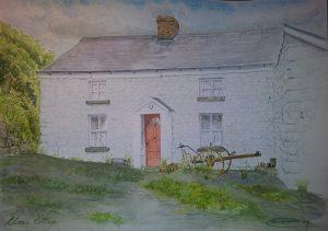 Fine Art Watercolour Commission of Etnas Cottage By Darren Graham of Ephraim Art Studio
