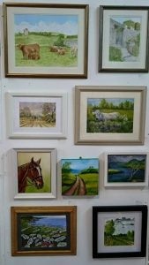 Display Of Fine Art Watercolours By Darren Graham of Ephraim Art Studio At An Exhibition