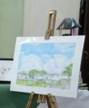 Fine Art Watercolour By Darren Graham of Ephraim Art Studio At An Exhibition