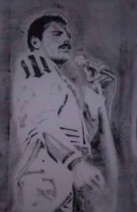 Fine Art Portrait of Freddie Mercury By Darren Graham of Ephraim Art Studio