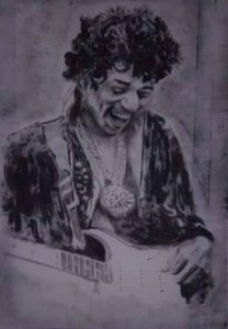 Fine Art Portrait of Jimi Hendrix By Darren Graham of Ephraim Art Studio