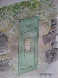 Kerry Postbox; Fine Art Print Of An Original Watercolour By Darren Graham of Ephraim Art Studio