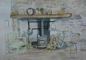 Fine Art Watercolour Commission of A Poet's Cottage By Darren Graham of Ephraim Art Studio
