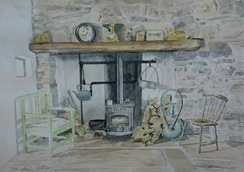 Fine Art Watercolour Commission of A Poet's Cottage By Darren Graham of Ephraim Art Studio